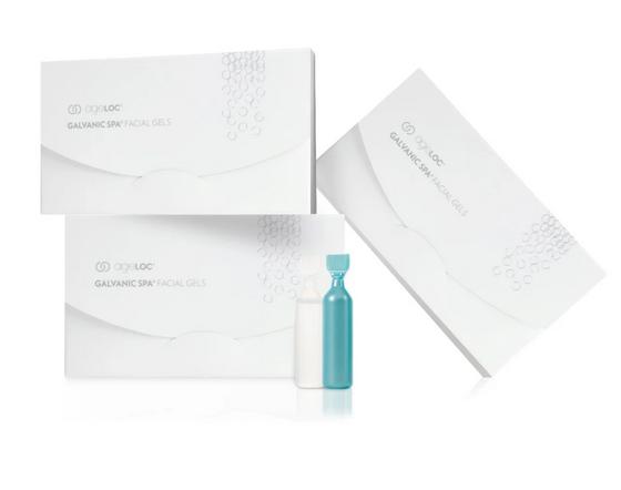 Nu Skin Galvanic Spa System Facial Gels mit ageLOC - 3 Gelboxen