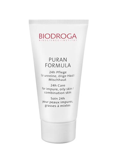 Biodroga Puran Formula 24h Pflege für unreine, ölige Haut / Mischhaut 50 ml