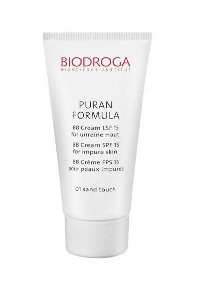 Biodroga Puran Formula BB Cream LSF 15 für unreine Haut 01 sand - 40 ml
