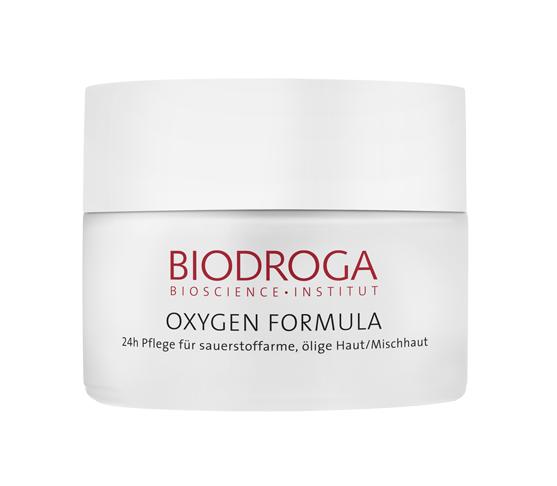 Biodroga Oxygen Formula 24h Pflege für ölige Haut, Mischhaut 50 ml