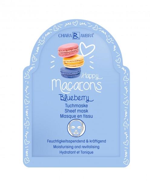 "Chiara Ambra Tuchmaske ""Macarons-Blueberry"" 1 Stk."